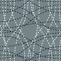 Tangled curvy lines seamless pattern, repeat endless back