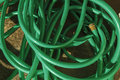 Tangled Green Hose Pipe Royalty Free Stock Photo