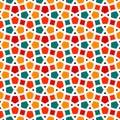 Tangled lattice pattern traditional arabic seamless vector background Stock Photo