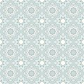 Tangled lattice pattern traditional arabic seamless vector background Stock Images