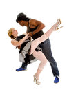 Tango Dancer Pair in Love Stock Images