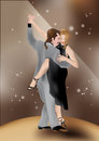 Tango dancers 2 Stock Photo