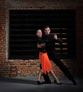 Tango dancers in action Royalty Free Stock Photo