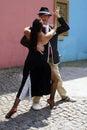 Tango dancers in La Boca Royalty Free Stock Photo