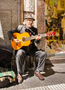 Tango guitar player Royalty Free Stock Photo