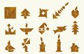 Tangram various shapes of objects made from an old chinese game Royalty Free Stock Photography