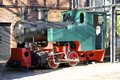 Tank locomotive on a former factory area in hamburg altona Royalty Free Stock Photo