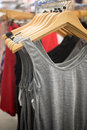 Tank tops in the store Royalty Free Stock Photo