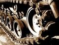 Tank track Arkivbild
