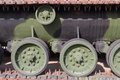 Tank track drive wheels Royalty Free Stock Image