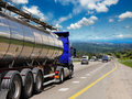 Tanker with chrome Royalty Free Stock Photo