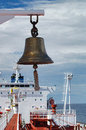 Tanker ship bell with nice sky in the background Stock Images