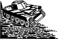 Tanks armored vehicles vector illustration vinyl ready design Stock Photos