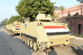 Tanks in cairo egypt army deployed amid tension Stock Image