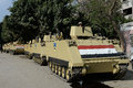 Tanks in cairo egypt army deployed amid tension Royalty Free Stock Image