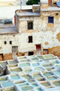 Tanneries Of Fes Stock Photography