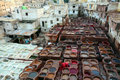 Tanneries Of Fes Stock Images