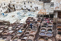 Tanneries of Fes, Marocco Royalty Free Stock Image