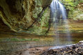Tannery Falls, Pictured Rocks, Munising, Michigan Royalty Free Stock Photo