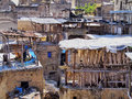 Tannery in fes morocco famous inside the old medina africa Royalty Free Stock Photo