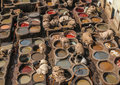Tannery in fez morocco africa Stock Photography