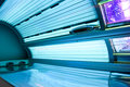 Tanning bed open as background Royalty Free Stock Image