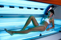 Tanning at solarium Royalty Free Stock Photo