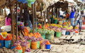 Tanzania roadside village market between dar es salaam and morogoro in africa Stock Image