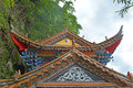 Taoism temple pagodas pavilions within the complex of the of Royalty Free Stock Photography
