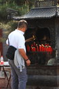 Taoist Temple Worship - China Stock Photos