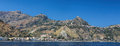Taormin and Giardini Naxos Royalty Free Stock Photo