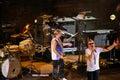 Taormina, Italy - July 29, 2010: The famous rockband Deep Purple in greek-roman amphitheatre