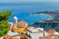 Taormina town landscape. Royalty Free Stock Photo