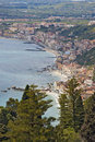 Taormina town in Sicily Italy Stock Photos