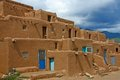 Taos pueblo old indian houses Stock Image