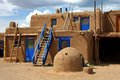 Taos pueblo old indian houses Royalty Free Stock Photography