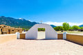 Taos u s a new mexico the native pueblo seen from the st jerome church Stock Image
