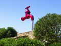 The tap big red in menorca fun park Royalty Free Stock Photos