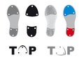 Tap dance shoes vector