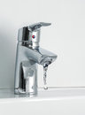 Tap flowing water from the Royalty Free Stock Photography
