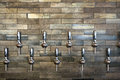Tap Handles at Taphouse Royalty Free Stock Photo