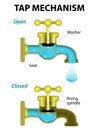 Tap mechanism. Vector diagram