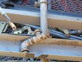 Tap and other ferrous material in waste landfill to be recycled rusty Stock Photos