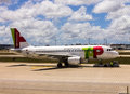 TAP Portugal Airline Airplane Stock Images