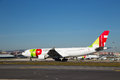 Tap portugal lisbon january th a flight in lisbon on the th of january lisbon is the national airline of Stock Photography