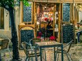 Tapas bar in Seville at Night Royalty Free Stock Photo