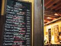 Tapas bar in Spain. Spanish tapas bar in historical center of Seville at night Royalty Free Stock Photo