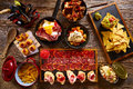 Tapas from Spain varied mix Royalty Free Stock Photo