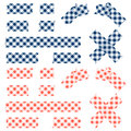Tape checkered pattern - blue and red Royalty Free Stock Photo