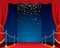 Étape d'étoiles de chute Photo libre de droits